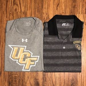 Mens Lot of 2 Large UCF Shirts in Gray